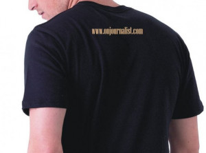 Journalism T-Shirt - Back side