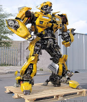 Transformer Bumblebee Made from Old Camaro parts