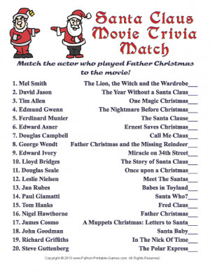 Dashing image with printable christmas trivia