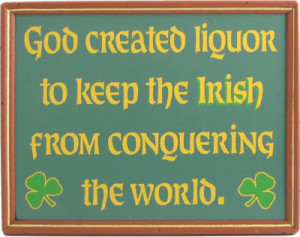 god created liquor irish sign this irish pub sign makes a great ...