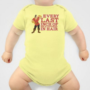 gaston.. beauty and the beast funny hair quote Onesie by ...