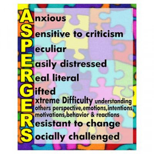 CafePress > Wall Art > Posters > autism aspergers Poster