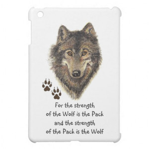 Watercolor Wolf Pack Family Quote Animal iPad Mini Case