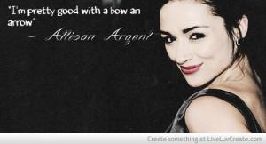 Allison Argent Quotes