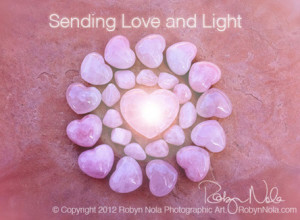 Sending Love and Light by Robyn Nola
