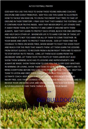 Football Prayer Football prayer