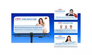 Billboard campaign to advertise Calgary Co-op's Home Health Care ...