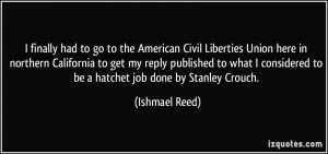 More Ishmael Reed Quotes