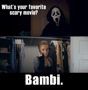 scream4 #scream 4 #whats your favorite scary movie #bambi #ghostface