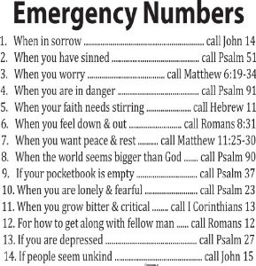 Amazon.com - Decal Quote-Bible Verse Wall Decal-Emergency Numbers ...