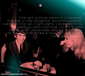 George Harrison Quotes Tumblr George harrison on cynthia