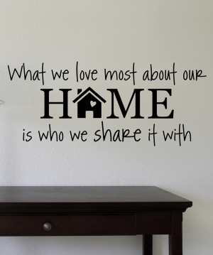 Black 'Love Our Home' Wall Quote