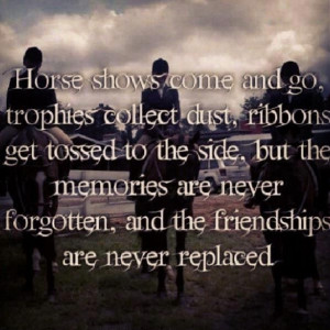 Horse Show memories will never fade