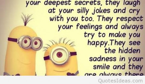 Best friend minion saying funny image