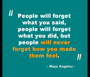 Quote - People will forget...