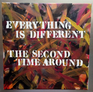 Regina Spektor Lyric/Quote Acrylic Painting on Canvas 12 x 12 Orange ...