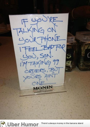 Funny coffee shop sign my friend saw in Georgia.