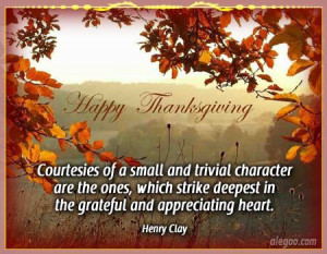 Grateful and Appreciating Heart - Thanksgiving Quotes 2012