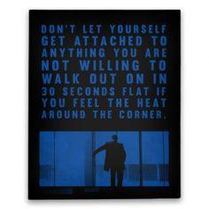 Heat #canvas #heat #de niro #movie #movie quotes #cult classic #cop ...