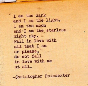 Quotes...just found my favorite poem.: Christopher Pointdexter, Poems ...