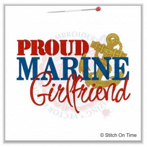 5158 Sayings : Proud Marine Girlfriend 5x7