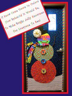 This is the door that I did for our autism classroom. I enlarged the ...