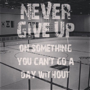 Its cool that there's a hockey rink in the backround but the quotes ...