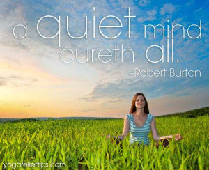 inspirational quote on the quiet mind