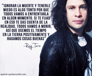 ... espanol frases my chemical romance ray toro spanish spanish quotes q