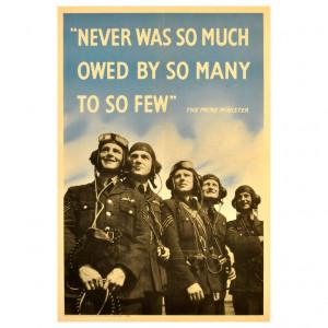 Original World War Two Battle of Britain poster featuring RAF Pilots ...