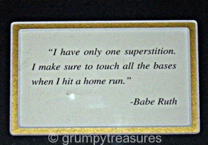 ... pic. The Great Babe Ruth w real stamp & authenticated #376/2,250