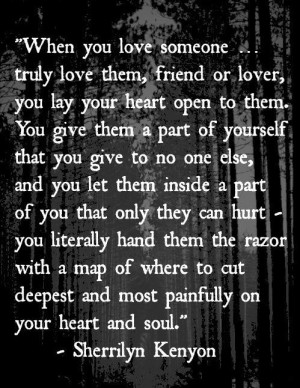 true love can hurt your soul and heart.