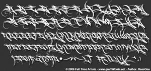 chicano lettering alphabet