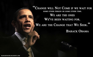 Powerful Quote from Obama