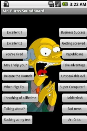 Mr. Burns Soundboard by Androidz Gamez