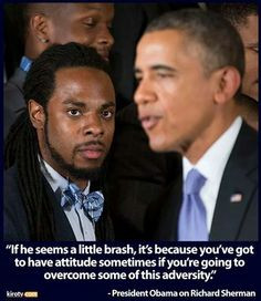 Obama quote on Richard Sherman while Seahawks were honored at the ...