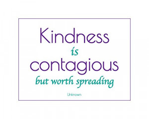 Kindness is Contagious Inspirational Poster Wht/Purple/Turq 16″ x 20 ...
