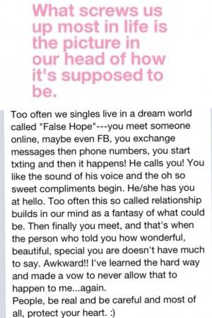 False hope..