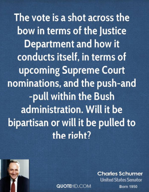 The vote is a shot across the bow in terms of the Justice Department ...