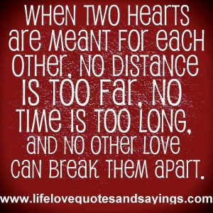 Love meant to be.