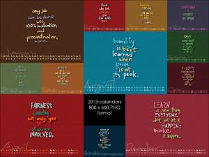 calendar set - 2013 quotes by iAmAneleBiscarra