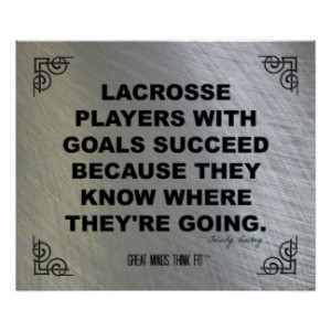 Motivational Lacrosse Poster 008
