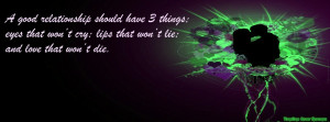 Dark Romance Quotes Love quote timeline cover,