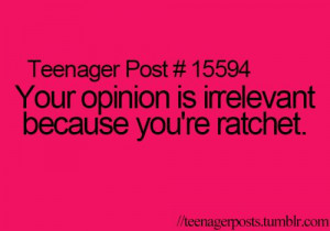 ... this because I feel accomplished that I know what ratchet means haha