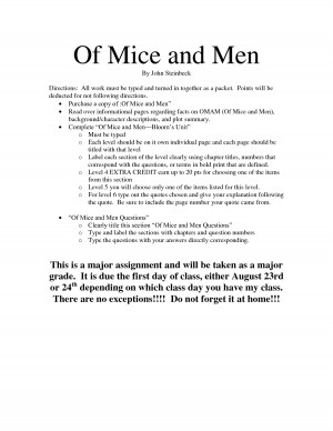 quotes and page numbers from the book of mice and men