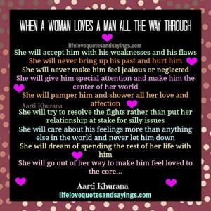 Loving A Man All The Way Through..