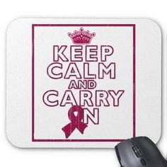 Sickle Cell Anemia Keep Calm and Carry ON Mouse Pad