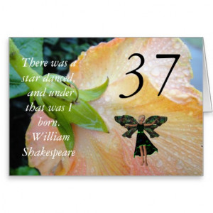 37th_birthday_shakespeare_quote_fairy_greeting_card ...