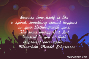 itself is like a spiral, something special happens on your birthday ...