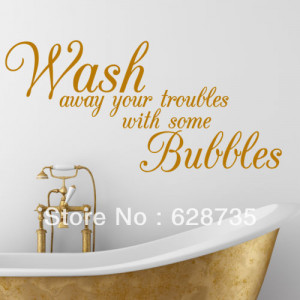 ... decal stickers,decorative Bathroom Quote decals,f301(China (Mainland